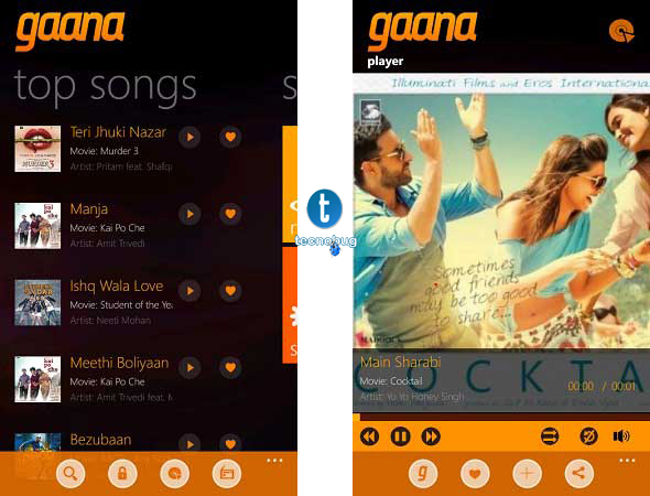 Finally Gaana app For Windows Phone | TechnoBugg