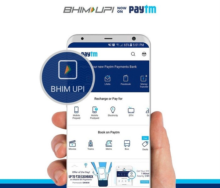 Now Paytm allows you to pay via BHIM on their platform