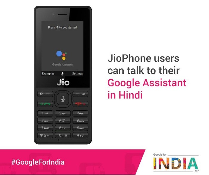 Google Assistant to make its way on JioPhone