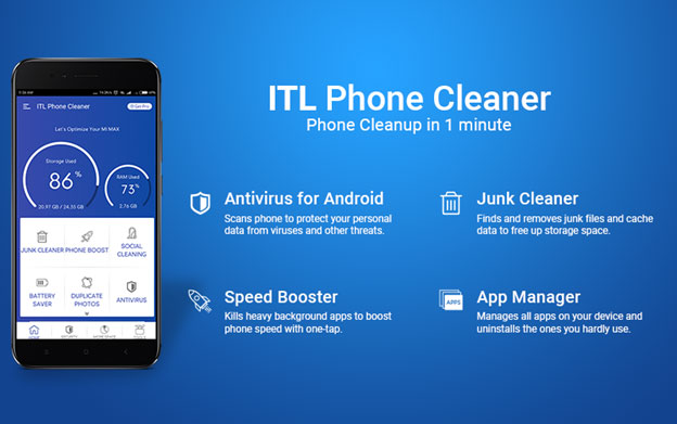 ITL Phone Cleaner - Junk File Cleaner And Speed Booster For Android
