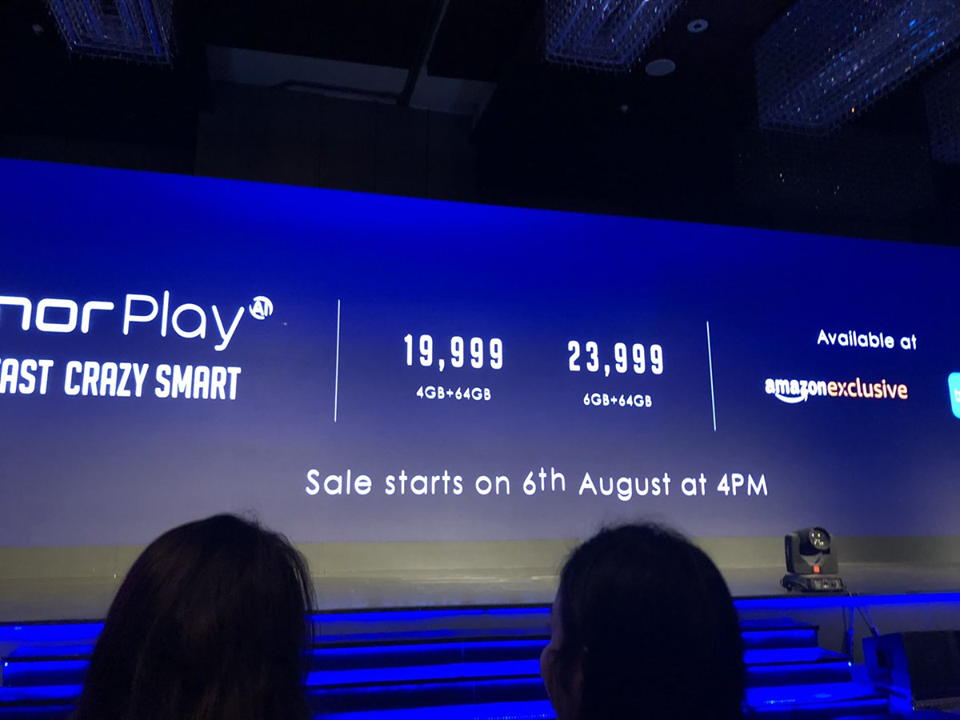 Honor Play Goes Official In India