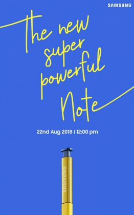 Samsung Galaxy Note 9 Will Launch In India On August 22