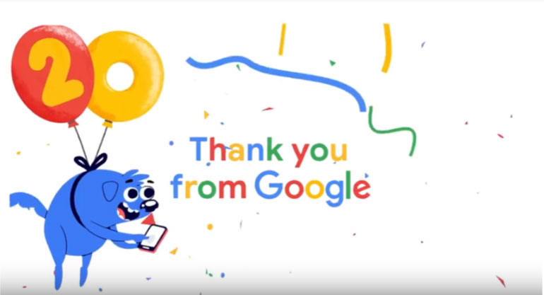 Google Celebrates 20th Birthday