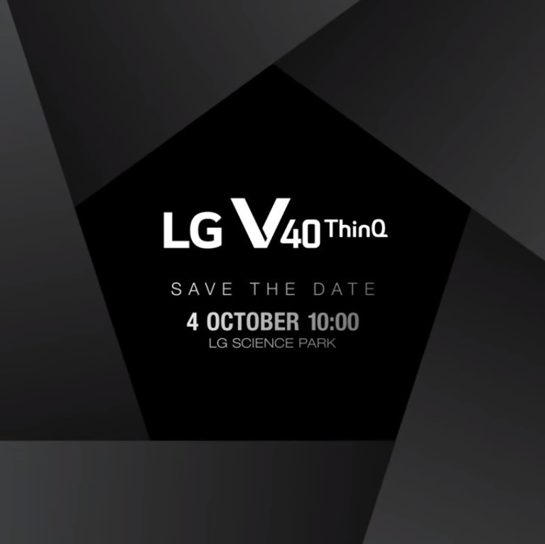 LG V40 ThinQ Confirmed To Launch On October 3
