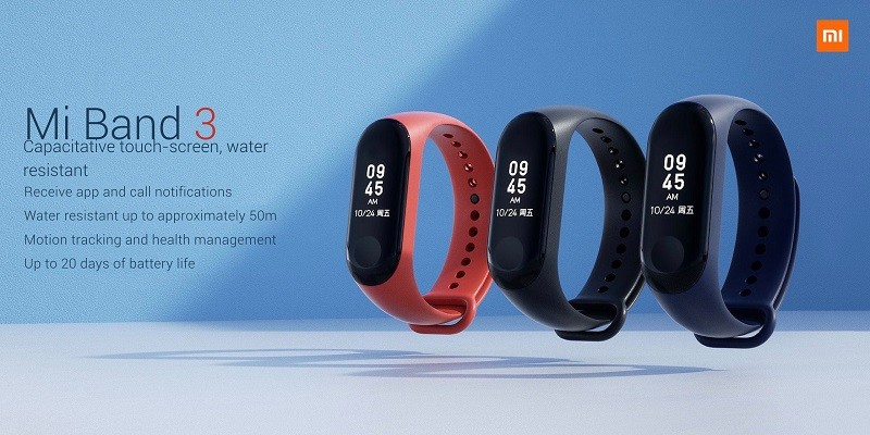 Mi Band 3 Confirmed To Launch In India On September 27