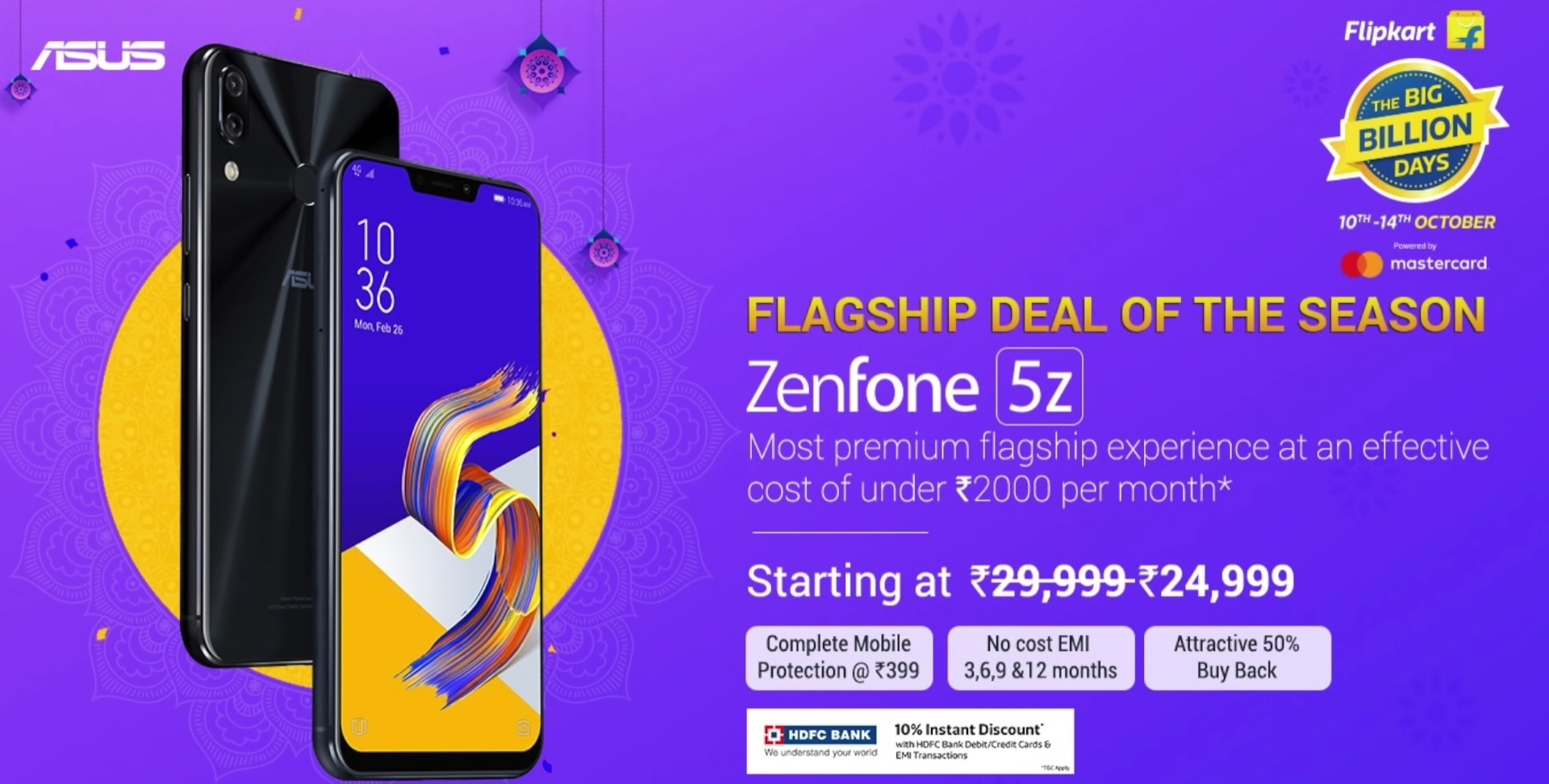 1. Flat ₹5,000 /- discount on all variants. Which translates to 6+64GB  variant for ₹24,999 /- , 8+128GB variant for ₹27,999 /- and 8+256GB variant  for ...