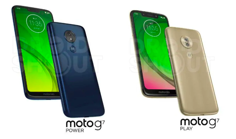 Press Renders Of Moto G7, Moto G7 Plus, Moto G7 Power, And Moto G7 Play Surfaced Online