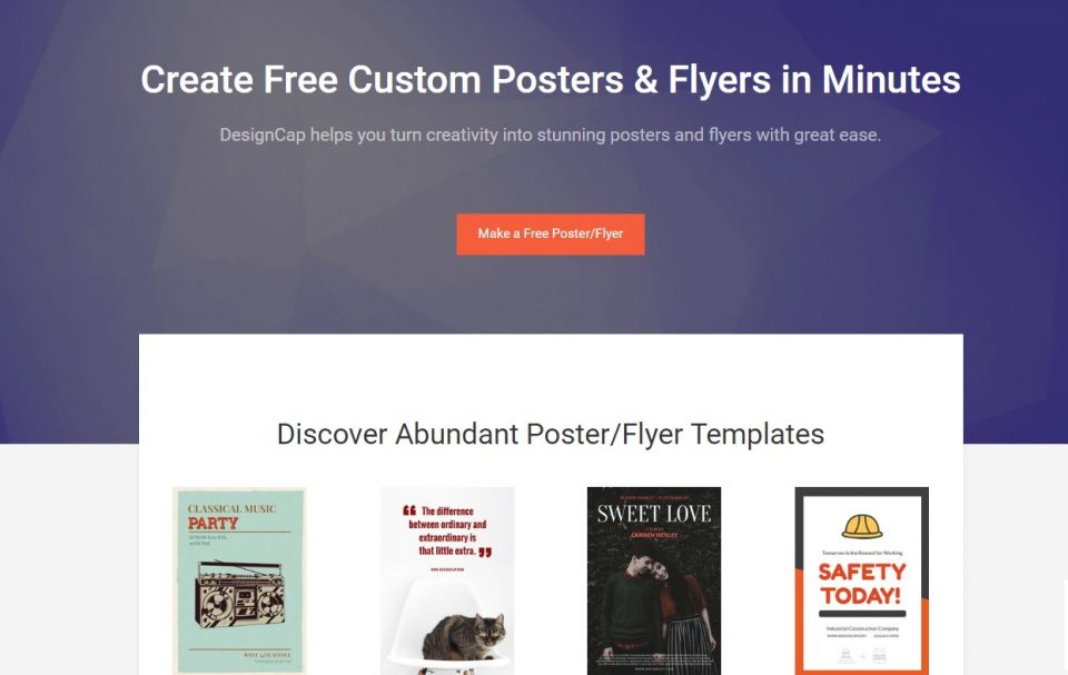 DesignCap Awesome tool to create posters and flyers for free