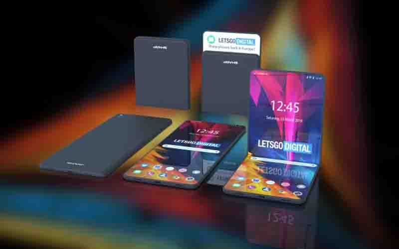 Here's 3D Renders Of Sharp Foldable Smartphone