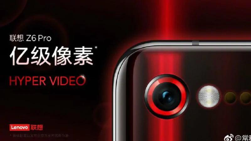 Lenovo Z6 Pro May Offer 100 Megapixel Images