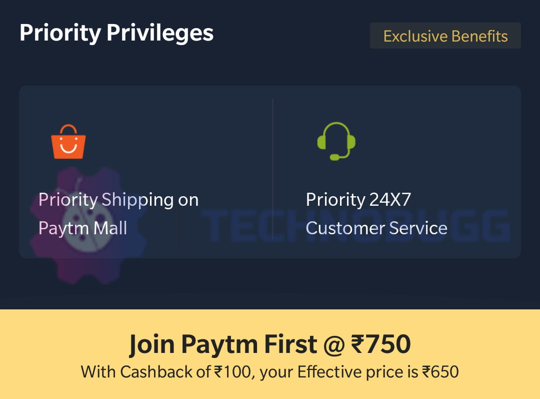 Paytm Changes Benefit Of Paytm First