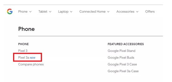 Google Pixel 3a Appears On Google Store