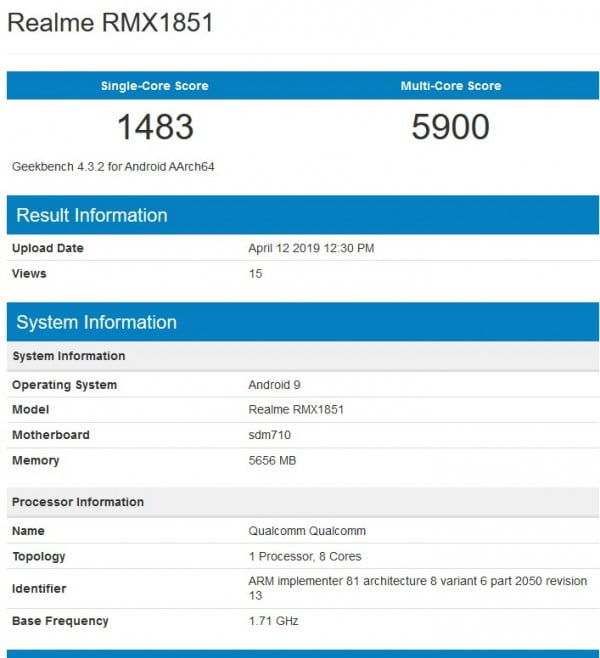 Here Are Specification Details Of Realme 3 Pro