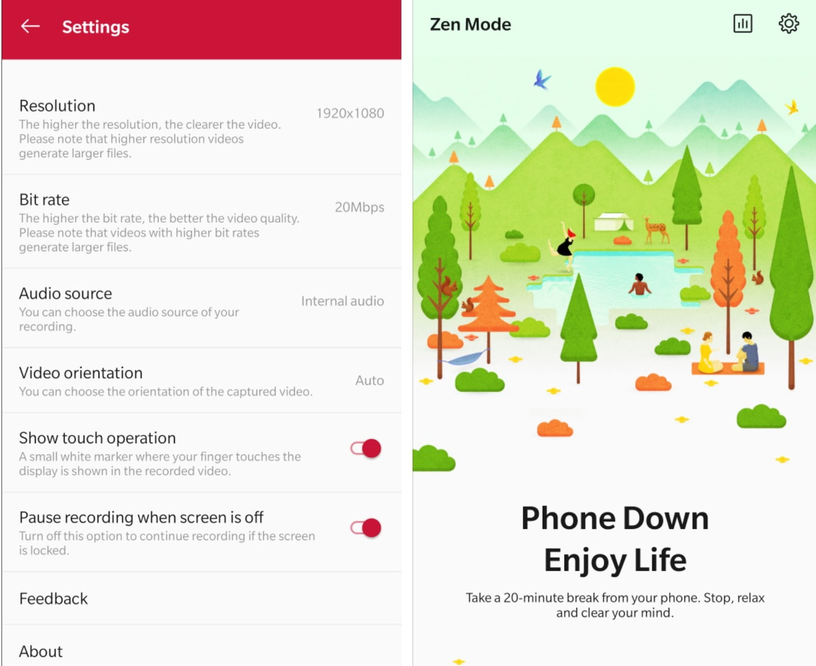 Download OnePlus's Screen Recorder & Zen Mode APK For Other