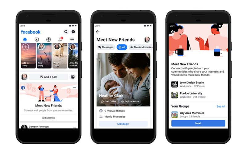 Facebook Introduces Meet New Friends Feature