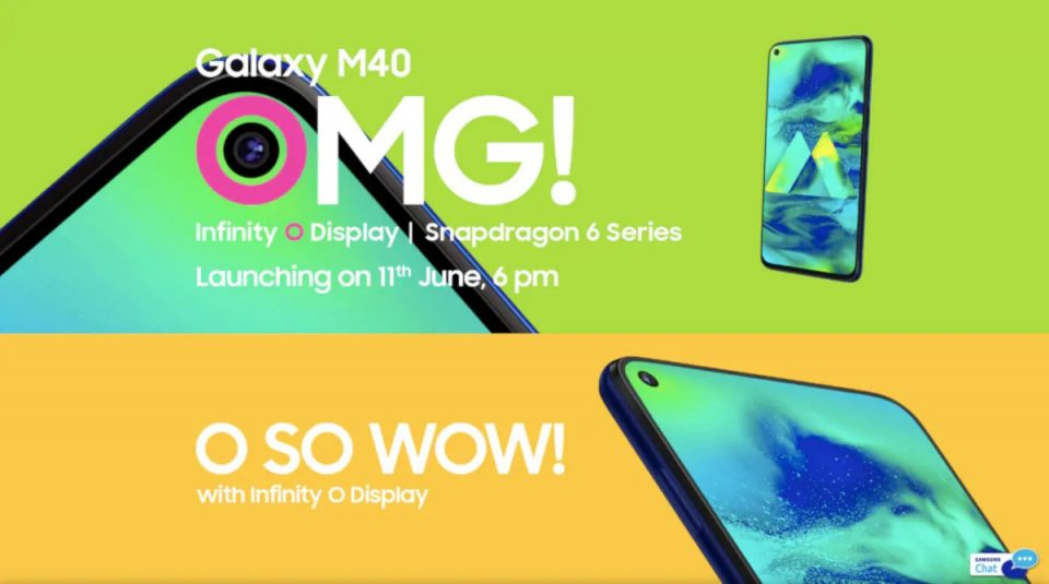 Samsung Galaxy M40 Will Launch In India On June 11
