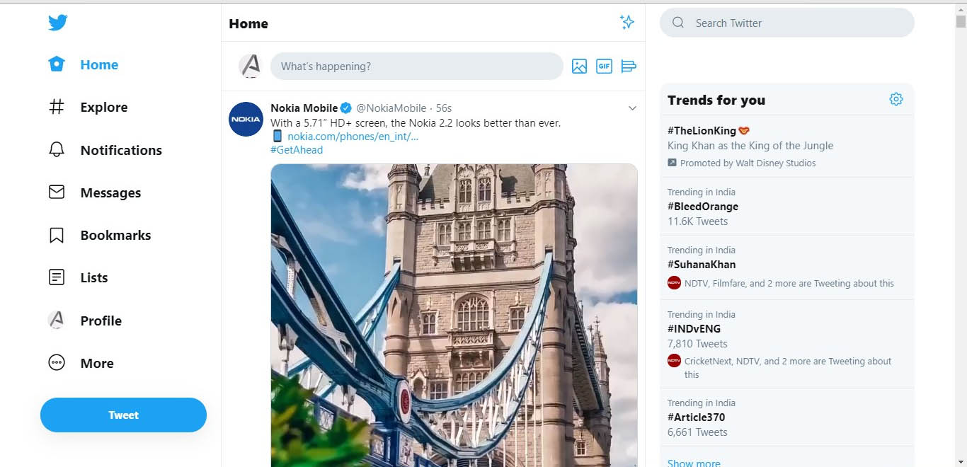 Twitter Redesigned On Desktop