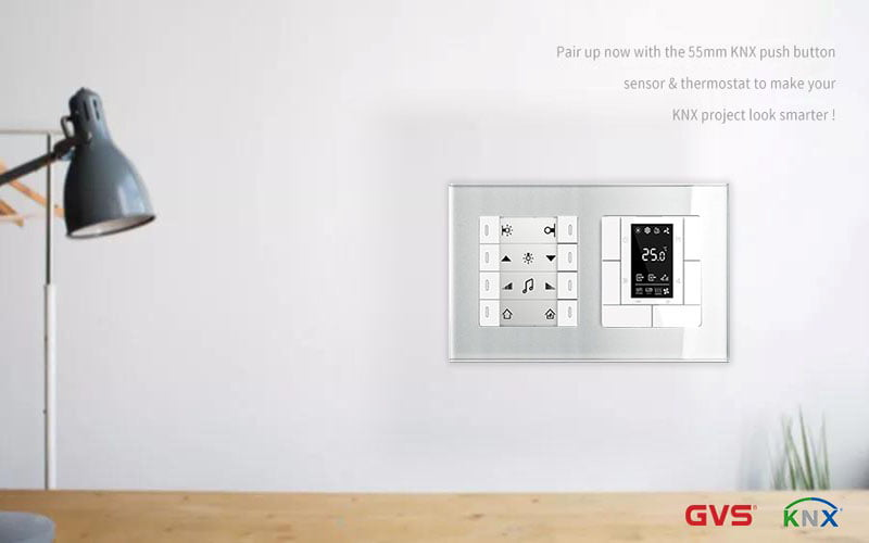 GVS KNX 55mm push button