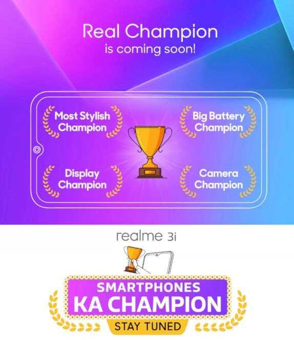 Realme 3i May Unveiled Very Soon