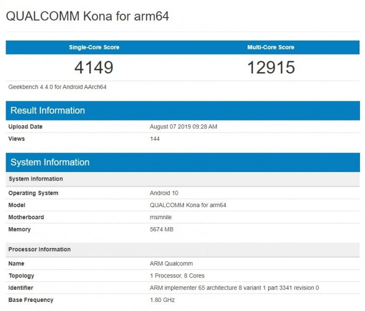 Qualcomm Snapdragon 865 Spotted On Geekbench