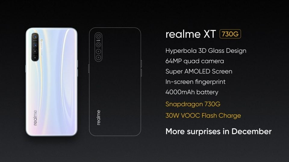 Realme XT 730G Announced With Snapdragon 730G