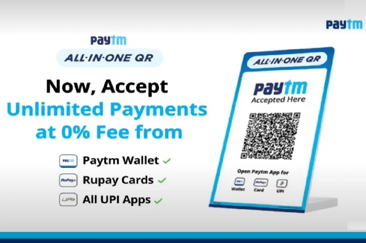 Paytm Unveils All-In-One QR Code
