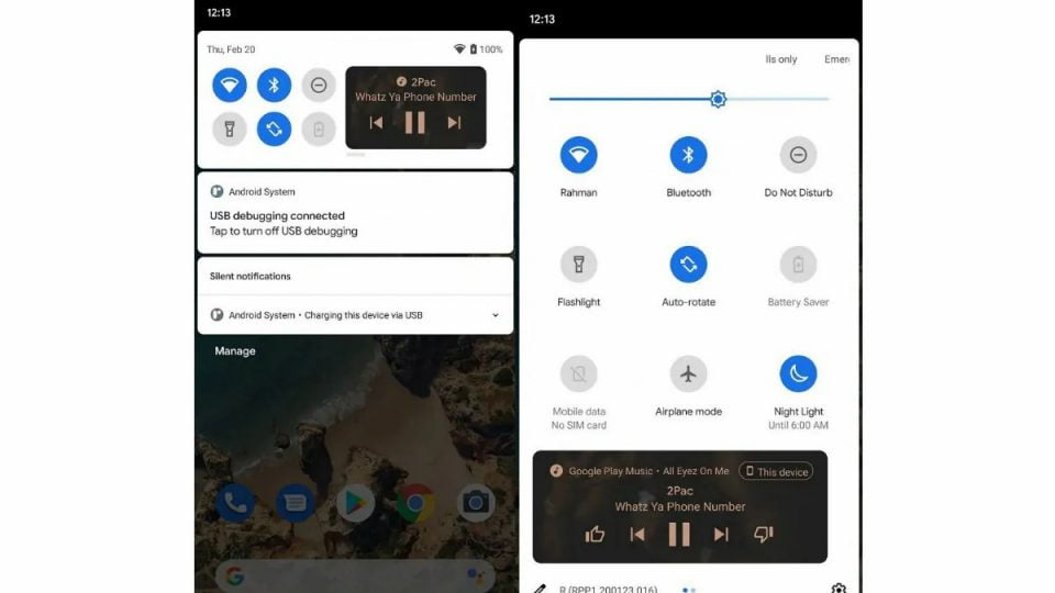 Android 11 May Feature Music Player In Quick Settings