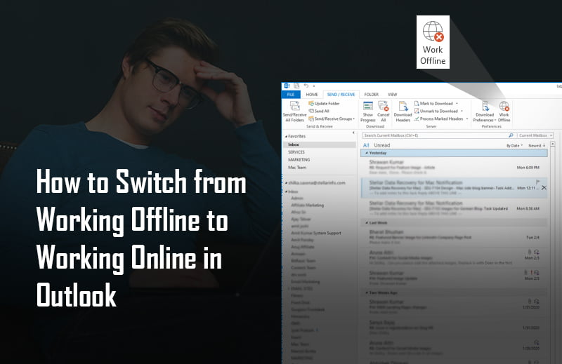 Switch from Working Offline/Disconnected to Working Online in Outlook