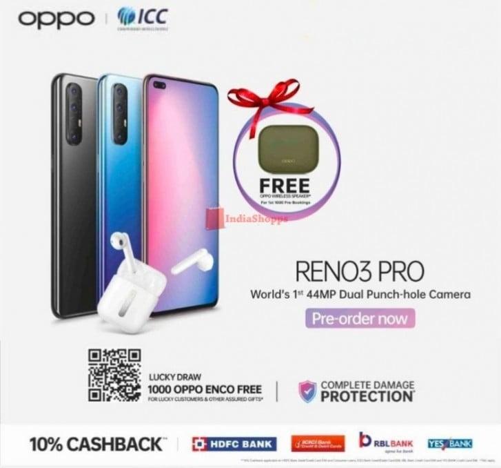 Pre-order Of Oppo Reno 3 Pro In India Started