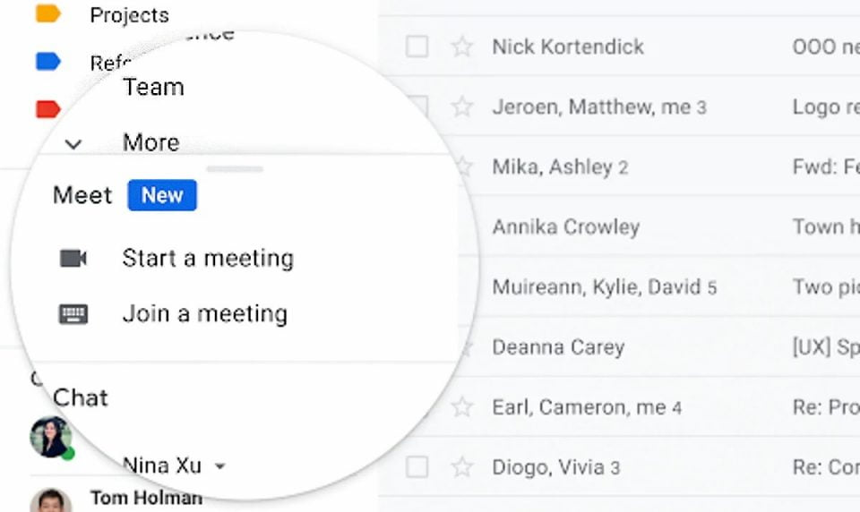 Google Meet Now Available In Gmail