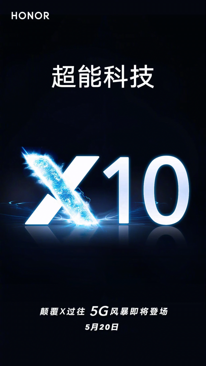 Honor X10 Confirmed To Launch With 5G Connectivity