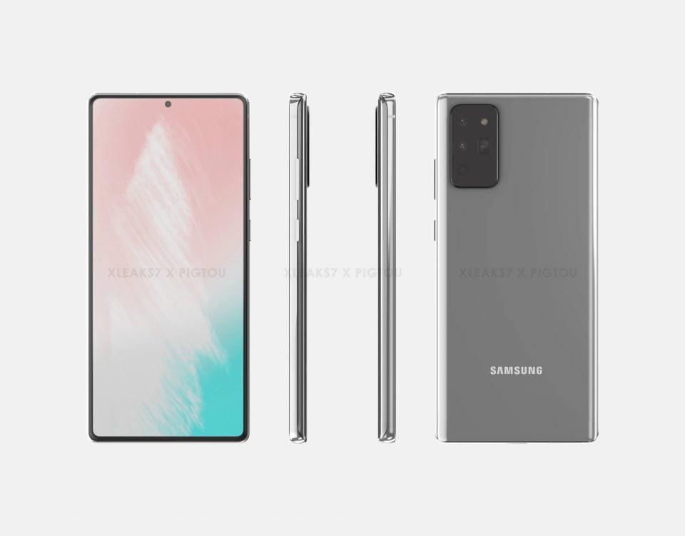 Samsung Galaxy Note 20 Renders Surfaced Online