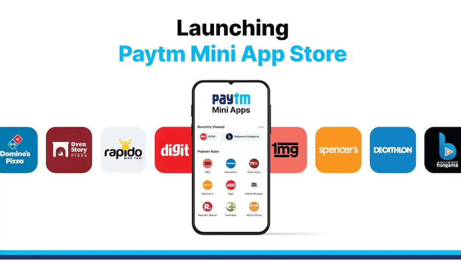 Paytm Mini App Store Launched for Indian Developers