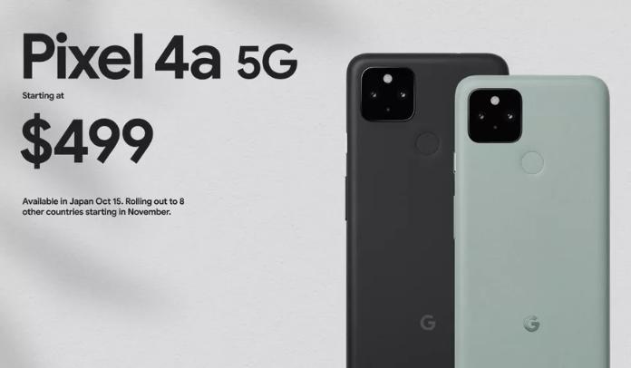 Google Unveils Pixel 5 and Pixel 4A 5G