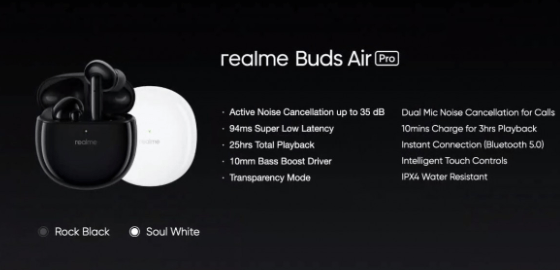 Realme Buds Air Pro, Buds Wireless Pro Earphones Launched With Active Noise Cancellation